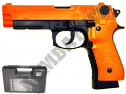 HG170 Metal CO2 Blowback Airsoft BB Gun Black and Orange
